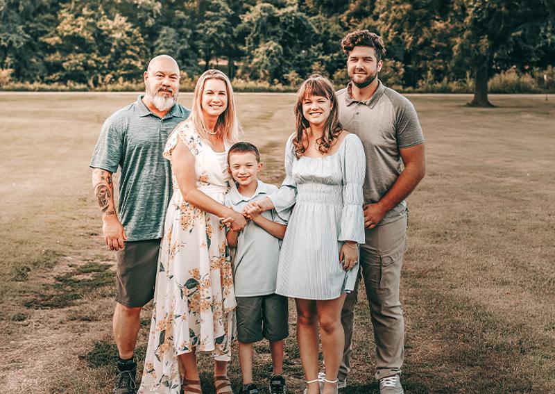 Celeste Michaud and Family